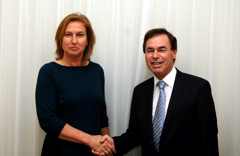 Alan Shatter with Israeli Justice minister